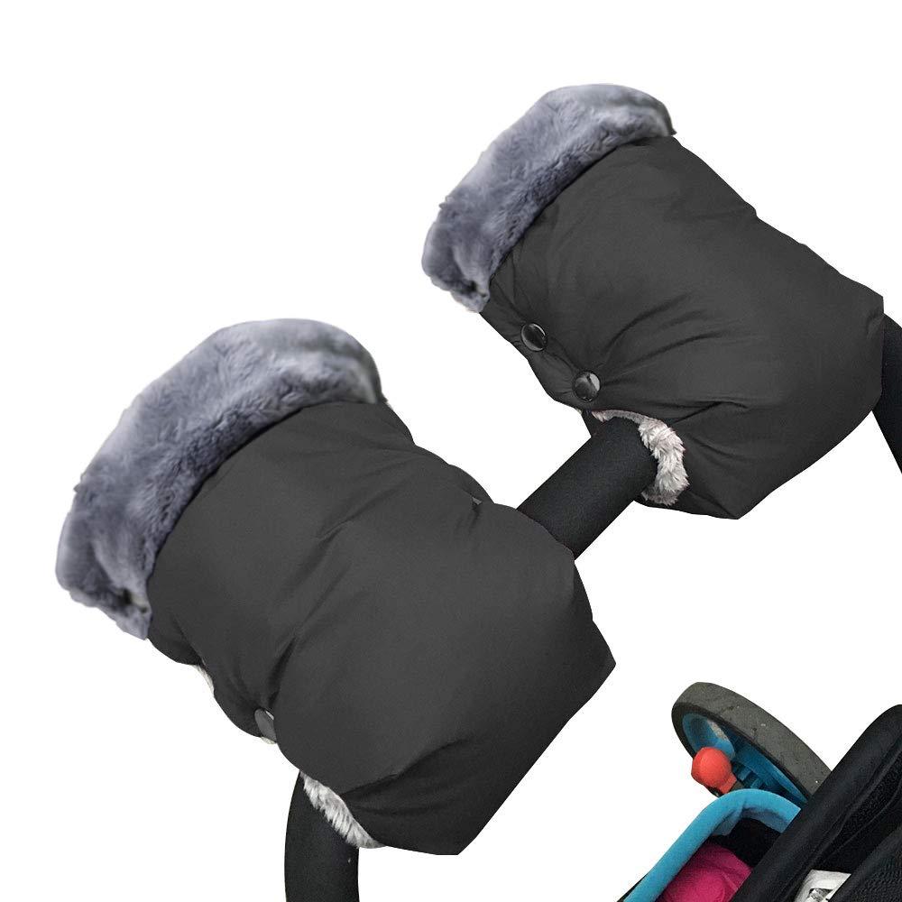 1 Pair Baby Stroller Gloves,Stroller Hand Muff Warm Gloves,Extra Thick Warm Waterproof Anti-Freeze Gloves for Parents Caregivers Carriage Handmuffs Stroller Accessories