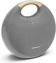 Harman Kardon Onyx Studio 6 - IPX7 Waterproof Wireless Bluetooth Speaker System w/Rechargeable Battery, Built-in Microphone (Grey/Gold)