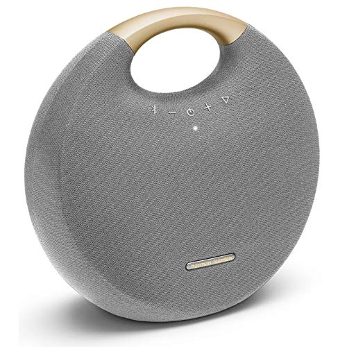 Harman Kardon Onyx Studio 6  IPX7 Waterproof Wireless Bluetooth Speaker System w/Rechargeable Battery Builtin Microphone Grey/Gold