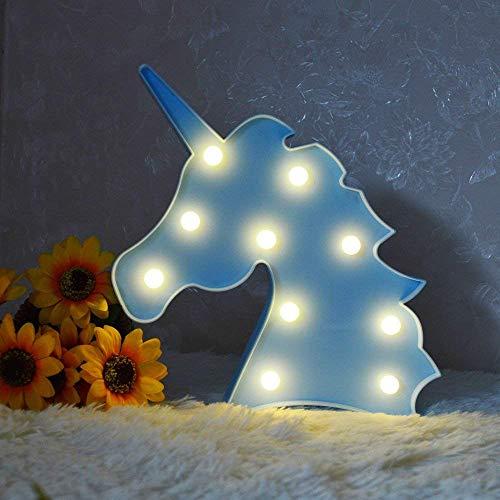 Luz nocturna LED de unicornio con forma de unicornio para decoración de interiores, dormitorios, sala de estar, habitación de niños, fiesta de boda, regalo de cumpleaños (blanco cálido)