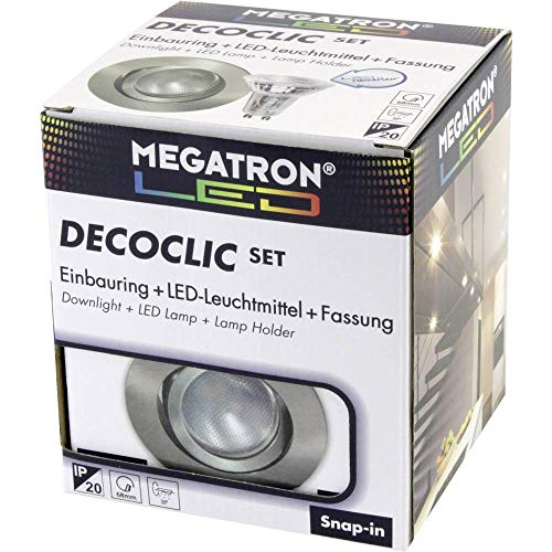 Megatron IDV (Megaman) LED-Einbauspot Set MT75403 2800K eb Decoclic Downlight/Strahler/Flutlicht 4020856754038