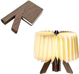 LED本燈 室内照明器具 テーブルランプ ベッドサイドランプ 夜間ライト 常夜灯 調光 スタンド携帯式ランプ LED ナイトライト ブックランプ 進学などのお祝いプレゼント 雰囲気作り インテリア癒し 停電/防災用 (木目)