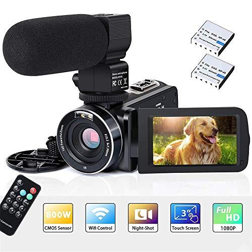 TOPQSC Videocámara WiFi 2K Cámara Remota Digital Pantalla HD de 3.0 Pulgadas Sony Sensor de 8 Millones de Infrarrojos Disparo con Visión Nocturna por Infrarrojos Zoom Digital 16x