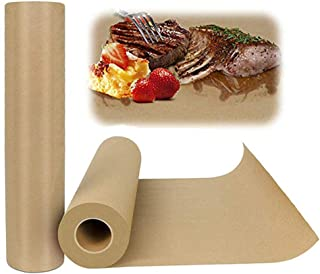 Food Grade Kraft Paper Roll,18 x 171rsquo;FDA Approved for Barbecue Kitchen Paper, NO Bleach No Wax No Coatings for BBQ Br...