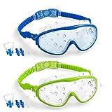 Vetoo Kids Swim Goggles 2 Pack Anti-Fog Leak Proof Kids Swimming Glasses(Age 4-15)