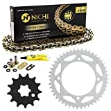 NICHE Drive Sprocket Chain Combo for Kawasaki KX65 Suzuki RM65 Front 13 Rear 47 Tooth 428VM-X X-Ring 110 Links