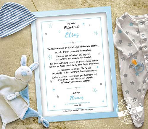 Patenbrief Taufbrief Geschenk Taufe, für Patenkind von Taufpaten, personalisierbar Taufgeschenk