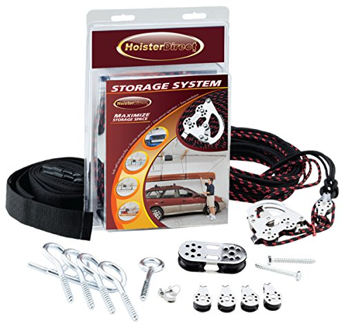Hoister Direct 7806.12 - Overhead Storage Hoist for Jeep Top Removal, Truck Caps, Bikes, SUP, Dinghies, Canoes, Kayaks, Surfboards and More. Mount in Your Garage, Shop, Anywhere with a Ceiling.