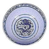 HANGXING Cuencos De Fideos Ramen, Cuencos Chinos De Porcelana Azul Y Blanca, Cuencos De Sopa Creativos Retro Nostálgicos, Aptos para Lavavajillas, Microondas Y Horno,4inch