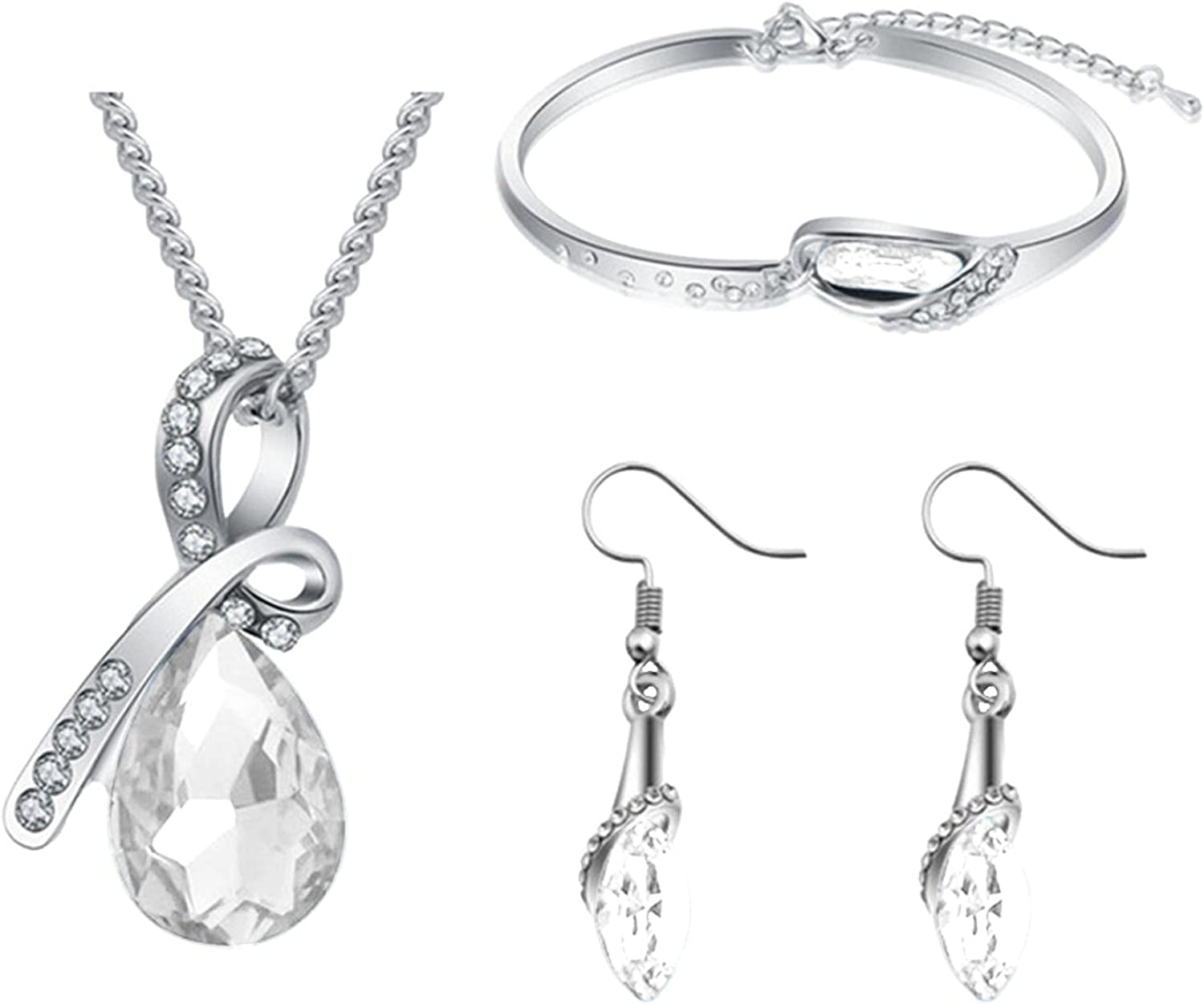 Women's Red Jewelry Set Personality Style Neckla Crystal Special sale item Classic El Paso Mall
