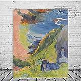 GYJDD Paul Gauguin Paisaje Arte De La Pared Cuadros Impresionismo Poster E Impresiones Pintor Famoso Pinturas En Lienzo Salon De Estar Decoracion para El Hogar 40x50cm Sin Marco