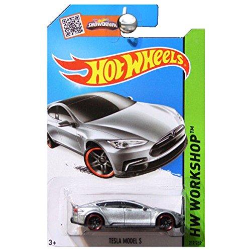 Hot Wheels, 2015 HW Workshop, Tesla Model S [Silver] Die-Cast Vehicle, #217/250 by Hot Wheels