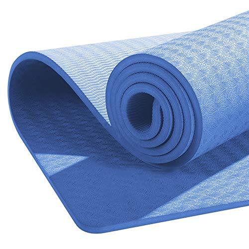 Durable Yoga Mat Environmental Protection Knee Pad Doppio Allargamento Antiscivolo casa stuoia di Ballo ad Alta Elasticità ad Alta densità di Sicurezza Durevole Mat Fitness (Color : Blue)