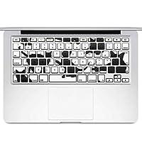 igsticker MacBook Air 13inch 2010 ~ 2017 専用 キーボード用スキンシール キートップ ステッカー A1466 A1369 Apple マックブック エア ノートパソコン アクセサリー 保護 013526 猫 シルエット 影