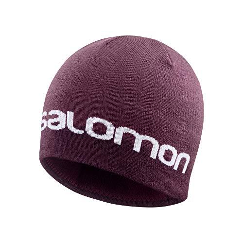 Salomon Gorro para senderismo y entrenamiento, Unisex, GRAPHIC BEANIE, Granate (Winetasting), Talla...