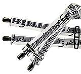Schwarz-weiße Hosenträger | Musik-Noten | Damen und Herren | One Size 120 cm | Anzug-Hosenträger | Arbeitskleidung-Hosenträger | Teichmann