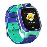 Smartwatch Niños, Reloj Inteligente Niña IP67, LBS, Hacer Llamada, Chat de Voz, SOS, Modo de Clase, Cmara, Juegos, Regalo para Niños de 3-12 años, soporta 2G tarjetáas Micro SIM (Verde)