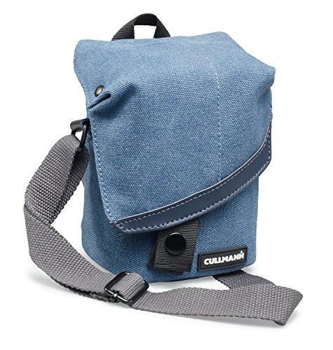 Cullmann MADRID TWO Vario 200 canvas blue Camera bag with shoulder strap for CSC cameras e.g. Canon Powershot G1 X Mark II (up to G3 X) EOS M10, Fuji X100T, Leica X-E, Nikon Coolpix P7800, Olympus Sty