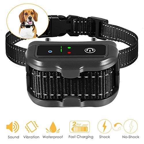 Geohee Premier Pet Bark Collars, 2019 Best Anti Bark Collar for Small Large Dogs, Smark Dog Training & Behavior Aids, Rechargeable Adjustable Dog Training Collars, Barking Detection, Waterproof