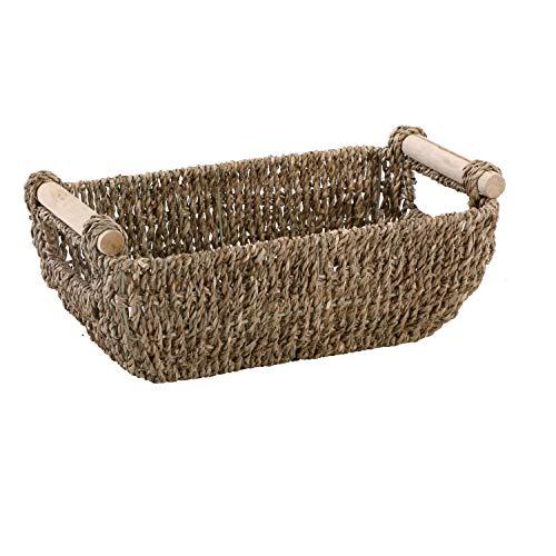 Hoffmaster BSK3000 Seagrass Basket with Handles 425quot Height 625quot Width 12quot Length Dark Brown