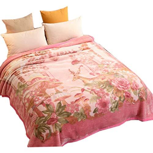 MAOTAN bed gooien dekens - dual-side super zachte print deken voor bed en bank - rimpelbestendig en anti-fade, pluizige deken voor bank, prachtige, Franse liefde,200 * 230 cm (4.5Kg)