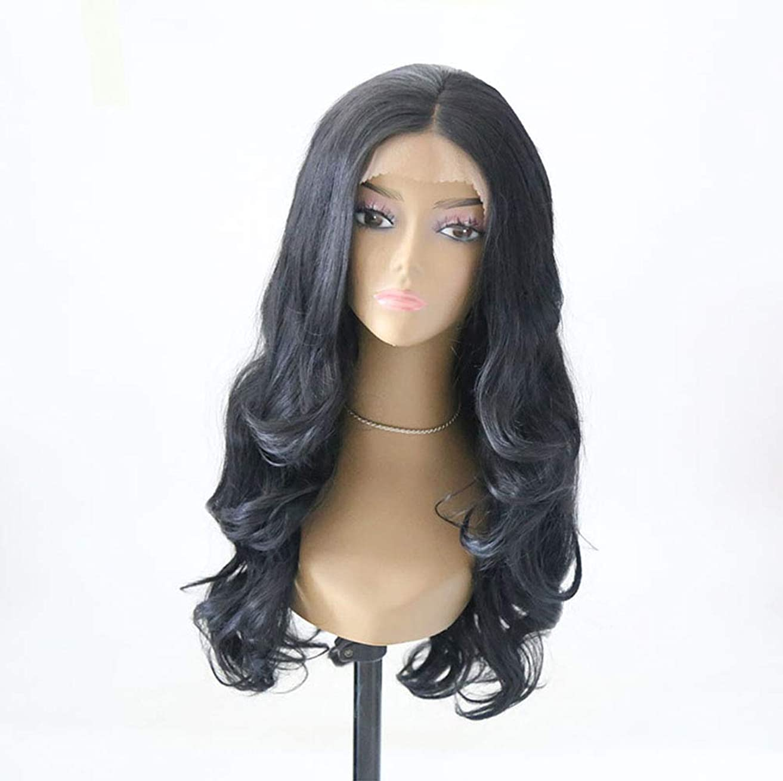 コンクリートペア死んでいる女性フロントレースかつら長い波状巻き毛のかつらファッション合成耐熱繊維かつら