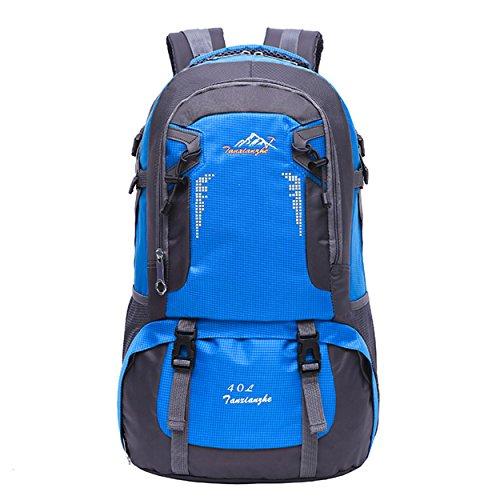Imperméable à dos de voyage 40L multifonction légère grande capacité sac à dos randonnée voyageant équitation H50 x L30 x T17 cm , blue