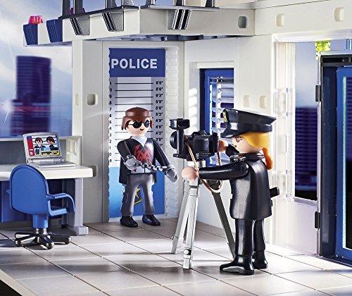 Poste de Police Playmobil 9372 Voiture Hélicoptère - 5
