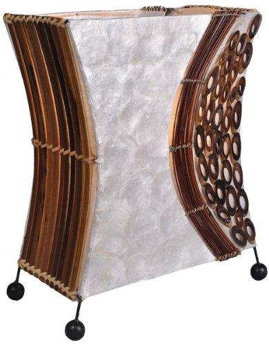 Deko-Leuchte WAYAN, Lampe aus Natur-Material, Stimmungsleuchte, eckig, Höhe ca. 30 cm