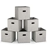 MaidMAX Cajas de Almacenaje de Tela sin Tapa, Cubos de Almacenamiento Plegables...