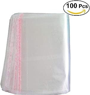 ounona 100pcs 25* 34cm plástico transparente agarre bolsas con cierre autoadhesivo sello fuerte autoadhesivo embalaje bolsas de celofán