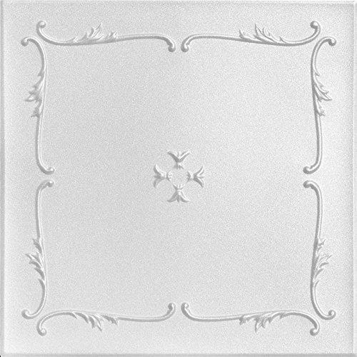 A la Maison Ceilings R05 Spring Buds Foam Glue-up Ceiling Tile (256 sq. ft./Case), Pack of 96, Plain White