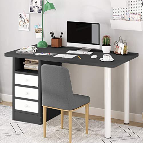 Mesa de estudio para computadora portátil Estación de trabajo Muebles de oficina en casa con/cajón (negro)