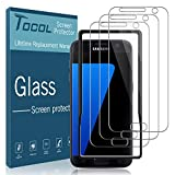 TOCOL 3 Pack Compatible with Samsung Galaxy S7 - Screen Protector Tempered Glass HD Clarity Touch Accurate 9H Hardness Easy Installation Tray