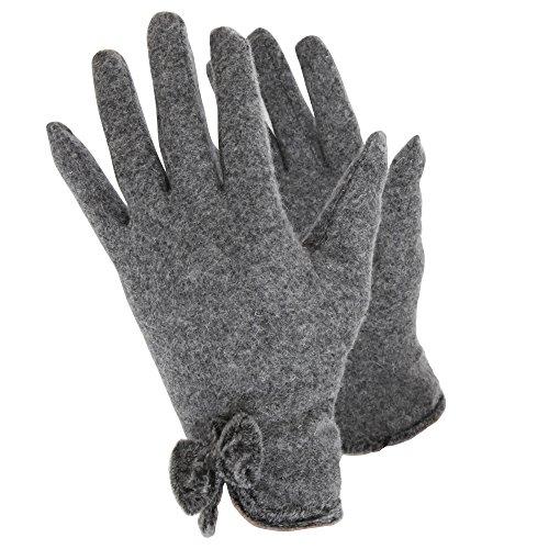 (ハンディー) Handy レディース ウールリッチ グローブ 手袋 (M) (グレー)