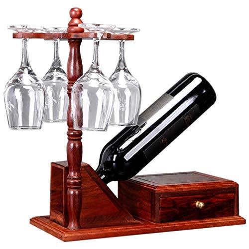 ZHJDX Caoba Creativa China Vino Estante de Vino Africano sándalo Rojo Colgando Copa Rack Vino Caja de Vino Rack Vino gabinete decoración