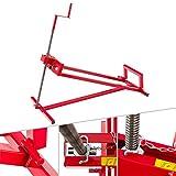 Arebos Lève-tondeuse Tracteur-tondeuse Dispositif de levage Cric | 400 kg | Angle d'inclinaison à environ 45° | Rouge | Stable et solide