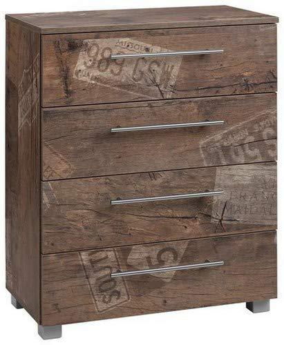 Schildmeyer Brisbane Kommode Holz, Dekor, 65 x 35 x 83 cm, panamaeiche