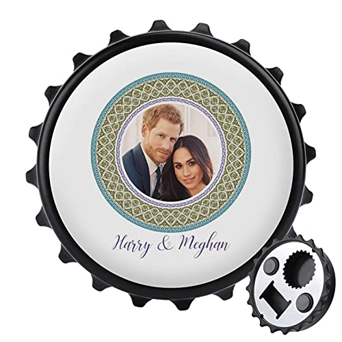Green Harry and Meghan Royal - Abrebotellas de placa decorativa para boda,...