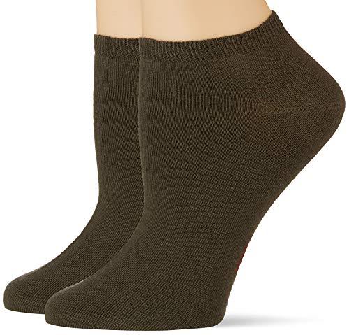 ESPRIT Damen Uni 2-Pack W SN Hausschuh-Socken, Grün (Thyme 7821), 39-42 (2er Pack)