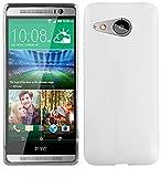 Cadorabo Funda para HTC One M8 Mini (2.Gen.) en Semi Transparente - Cubierta Proteccíon de Silicona TPU Delgada e Flexible con Antichoque - Gel Case Cover Carcasa Ligera