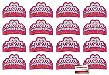 16 Pack Pink Princess Tiara Party Invitations Birthday Party Supplies Value Pack  Plus Party Planning Checklist by Mikes Super Store