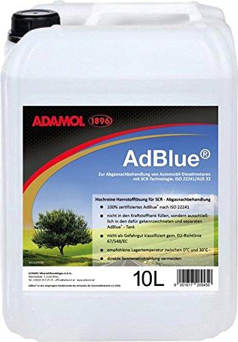 ADAMOL 1896 AdBlue 10 Liter, mit Füllschlauch, SCR Harnstofflösung, ISO 22241