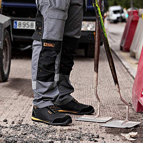 Scarpe Antinfortunistiche Ultra Leggere Punta in Acciaio e Suola in Kevlar Scarpe da Lavoroalla Caviglia Hiker 4444 S1P SRC (43 EU)