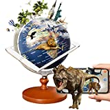 FUN GLOBE AR Explore The World Globe Desktop Education Geographic Interactive Earth Globes for Kids & Adults for Educational Toys/Office Supplies/Indoor Decorations/Holiday Gift(Navy, 5 Inches)