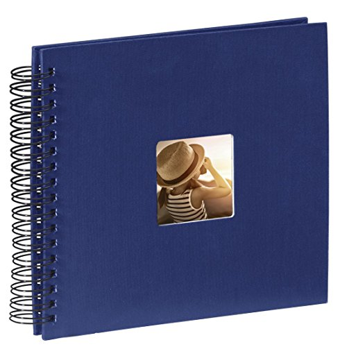 Hama Fotoalbum (28 x 24 cm, 50 schwarze Seiten, 25 Blatt, mit Ausschnitt für Bildeinschub) Fotobuch...