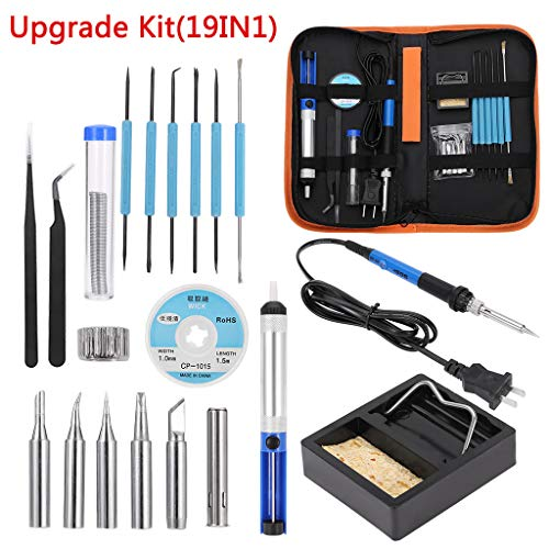 Celiy Soldering Iron G un Kit Electrical Wire Tips Tool Set Solder Station 60W 110V