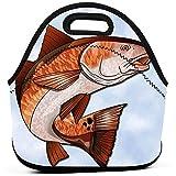 Lunch Boxen,Cartoon Red Fish Clipart Lustige Bunte Bento Box Taschen Mit Reißverschluss Für Adult Office Outdoor