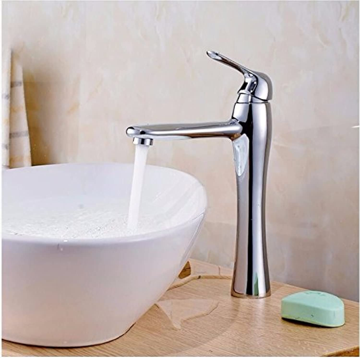 LHbox Basin Mixer Tap Bathroom Sink Faucet The brass taps, basin taps on the console, basin, hot and cold water faucets, single handle single hole Faucet
