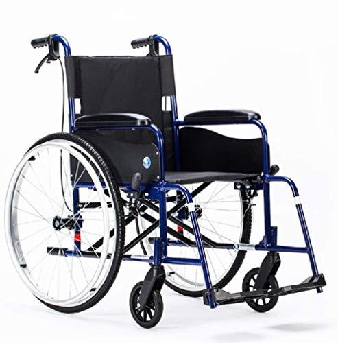 JYHJ Silla de ruedas ergonómica, ultraligera, plegable, ligera, portátil, pequeña y simple, silla de ruedas para ancianos, A, A, color: B (color: B)